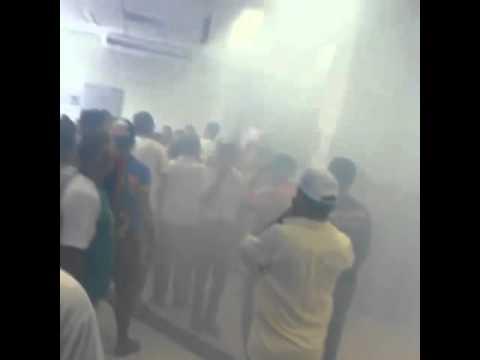 Fumaça em banco assusta clientes da Caixa, em Santa Rita, PB