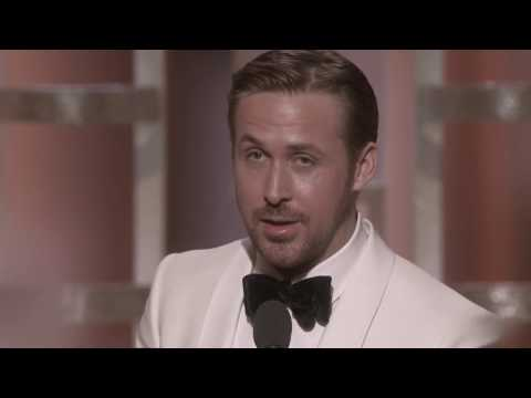Ryan Gosling - Best Actor - Golden Globes Awards 2017 (видео)