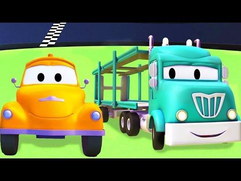 Tom la Grúa y el Porta Autos en Auto City | Dibujos animados para niños