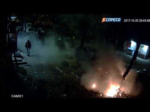 Видео момента взрыва на Соломенке