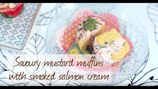Savoury mustard muffins with smoked salmon cream video