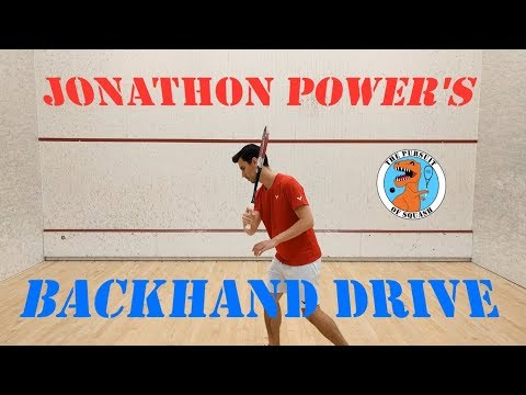 Squash - How to hit a backhand drive like Jonathon Power (Part 1 - Preview)