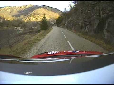 on-board di sebastien loeb rally montecarlo 2008