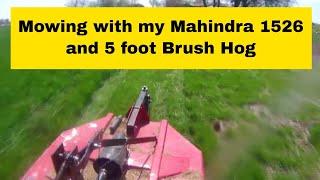 6. Mahindra 1526 and 5 foot brush hog