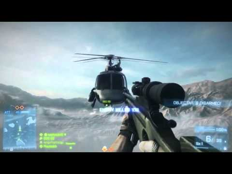 Battlefield 3: Insane Mid-Air Helicopter Hijacking
