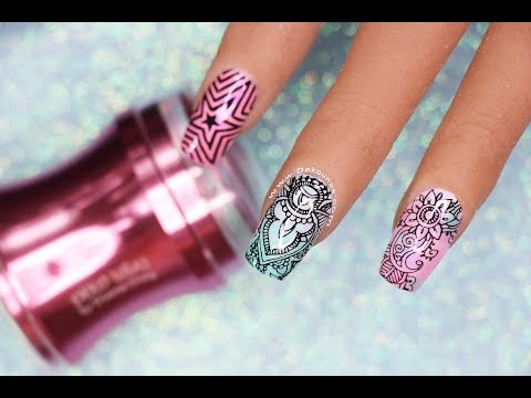 Uñas acrilicas - Clase #23 Stamping en uñas PERFECTO!  Deko Uñas - Nail art