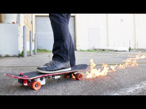 Skateboard with Builtin Flamethrower