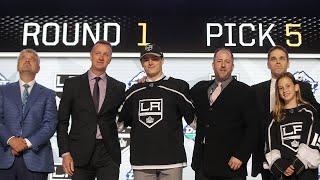Los Angeles Kings draft F Alex Turcotte No. 5 by NHL