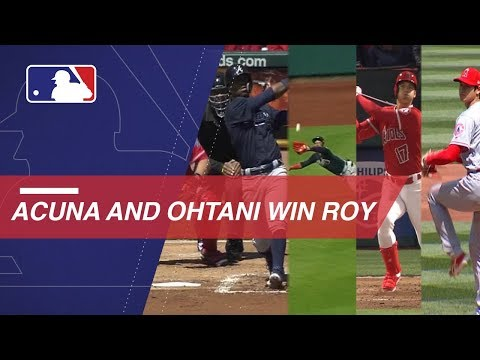 Video: Acuña Jr., Ohtani win Rookie of the Year Awards