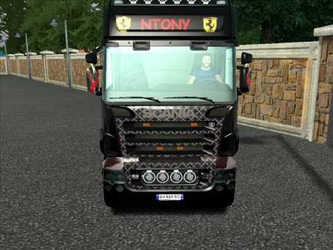 Euro truck simulator Scania Ntony (видео)
