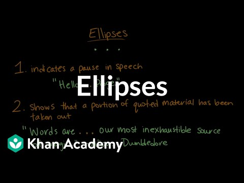 Practice using ellipese in middle school essay writing