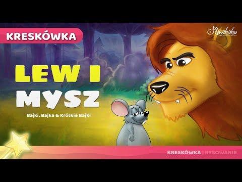 Lew i Mysz | Bajki po Polsku | Bajka i opowiadania na Dobranoc | Kreskówka
