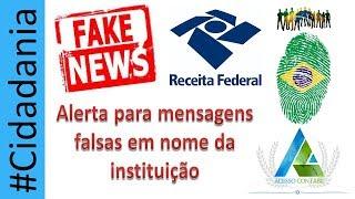ALERTA DE MENSAGENS FALSAS