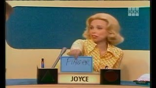Features another Brett Somers / buzzer guy question Orson Bean, Brett Somers, Charles Nelson Reilly, Dr. Joyce Brothers, Richard Dawson, Fannie Flagg