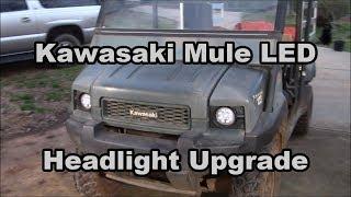 6. Kawasaki Mule 4010 LED headlight upgrade