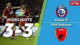 Video Arema FC vs PSM Makassar 3-3 All Goals & Highlights MP3, 3GP, MP4, WEBM, AVI, FLV Oktober 2017