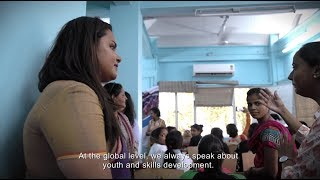 Jayathma Wickramanayake, the UN Secretary General's Envoy on Youth, stopped over at TARA (Technology & Action for Rural Advancement) to meet young women receiving training in salon services and retail under the Disha project. Read more about Disha here: https://goo.gl/p859Ji