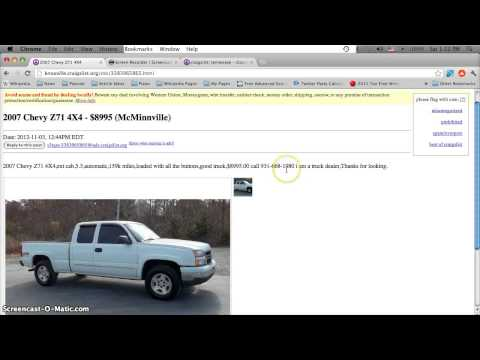Craigslist Knoxville TN Used Cars For Sale by Owner – Cheap Vehicles Under $4000 in Tennessee