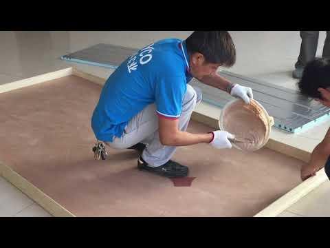 installation of under floor heating for laminate floor