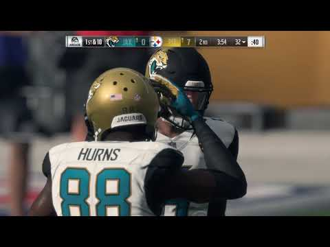 Madden NFL 18 Division Playoffs Jacksonville Jaguars vs Pittsburgh Steelers HD Gameplay