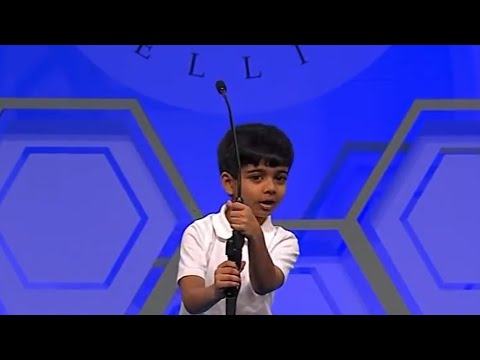 Adorable 6 Years old Akash | Scripps National Spelling Bee 2016 | Round 2