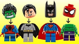 Lego Superhero Change Super Power Using the Magic Color House