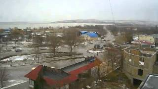 Перекрёсток в Щёлкино, 11.01.2013 - time-lapse с камеры 2