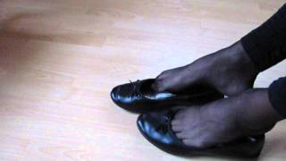 Black Sabrinas, Nylons And Leggins  Shoeplay And Dangling