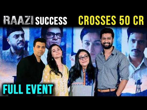 Raazi Success Press Conference With Alia Bhatt, Vi