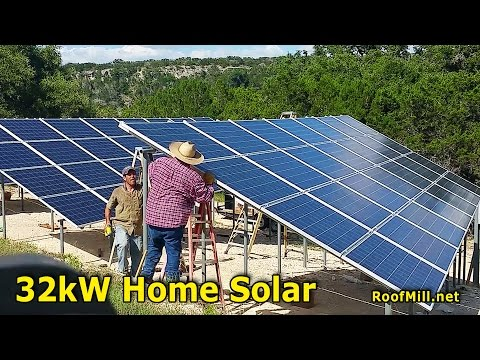 32kW Grid Tie Solar Panels For Home