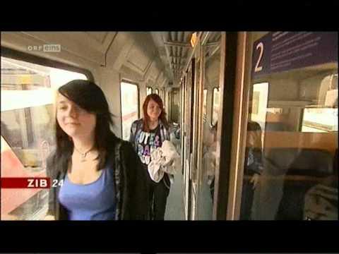 Überfüllte Züge der ÖBB