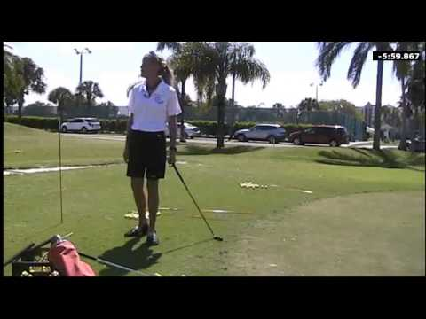 Chipping Golf lesson with THE GOLF BOOT CAMP,INC. with LPGA Cathy Schmidt