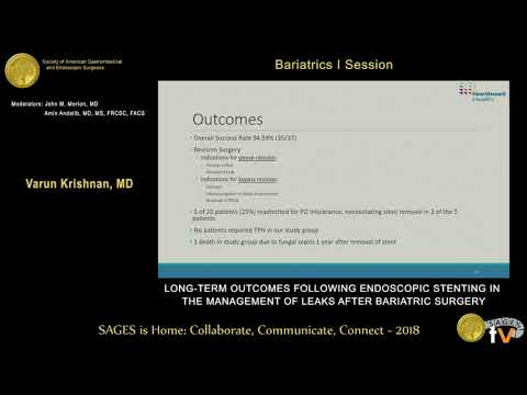 Long-term outcomes following endoscopic stenting in the management of leaks after bariatric surgery