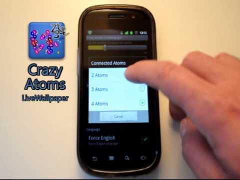 Video of Crazy Atoms LiveWallpaper