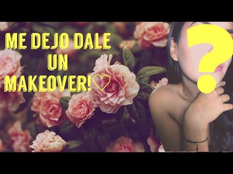 Amiga makeover! / Friend makeover! Le aplicó uñas acrilicas y maquillaje! #maquillaje #uñasnude