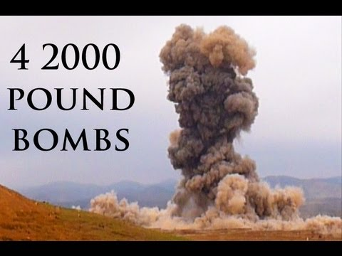 bombs - More combat footage not on YouTube at FUNKER530.com - http://vid.io/xGB JDAM bombs dropping in Afghanistan create massive explosions. MEET THE HEROES HERE - ...