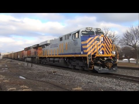 ES44AC - Here's some video I shot of an eastbound BNSF coal train passing through downtown Ottumwa, Iowa, near the Amtrak station, on January 14th, 2014. It was an ex...