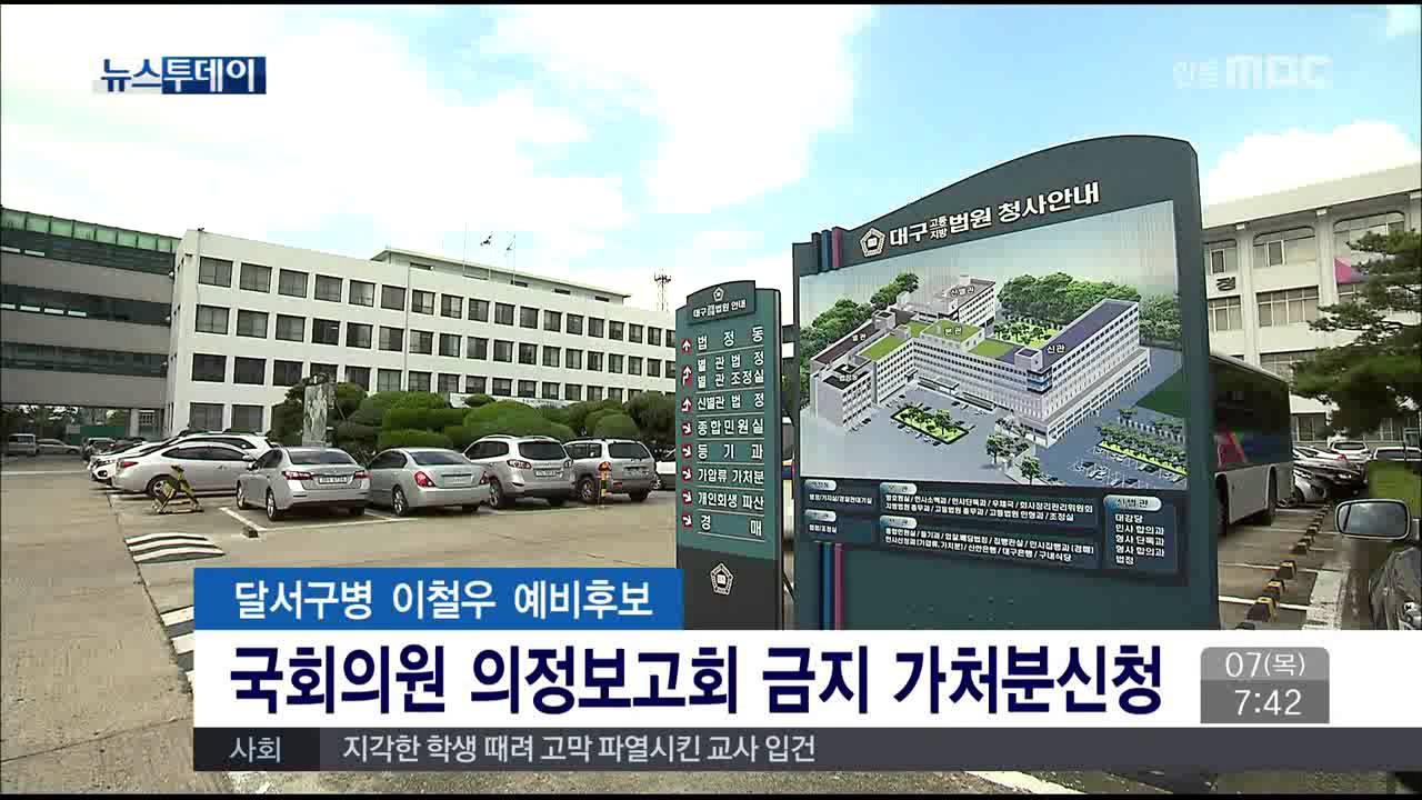 국회의원 의정보고회 금지 가처분신청(사진)