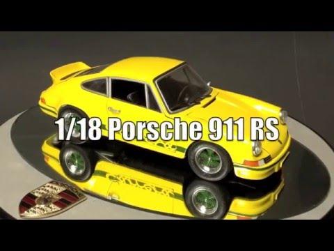 PORSCHE 911 RS TOURING 1973 - Voiture sportive Jaune et noir - 1/18 NOREV 187638
