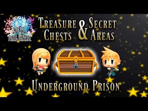 World of Final Fantasy - Underground Prison | Treasure Chest and Secret Areas Guide (видео)