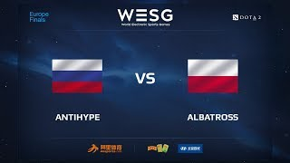 AntiHype vs Albatross, WESG 2017 Dota 2 European Qualifier Finals
