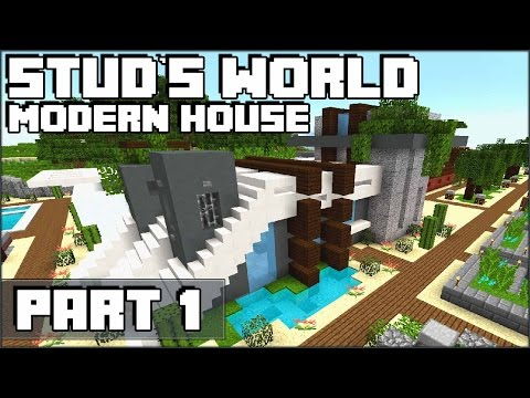 Modern Minecraft House Part 1 - Stud's World - 64