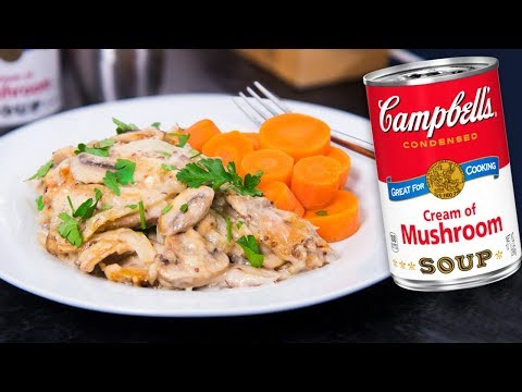 Chicken And Mushroom Bake Recipe - Cooking With Cream Of Mushroom Soup