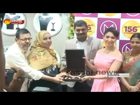 Actress Tamannaah Hulchul in Hyderabad || Inaugurates Malabar Gold Showroom