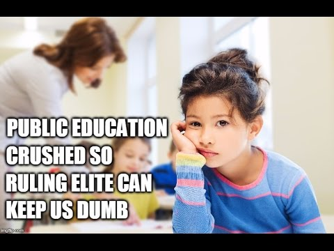EVIDENCE: Public Education Crushed So The Ruling Elite Can Keep Us Dumb