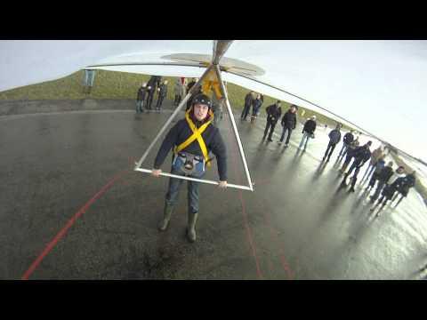 Harlingen zeedijk hangglider testvlucht