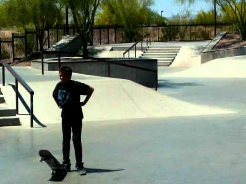 Retarded Kid At Mcdowell Mountain Ranch Skatepark