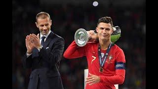 Cristiano Ronaldo Calla Bocas y es Dios de Europa - Portugal vs Holanda 1-0 Final Nations League