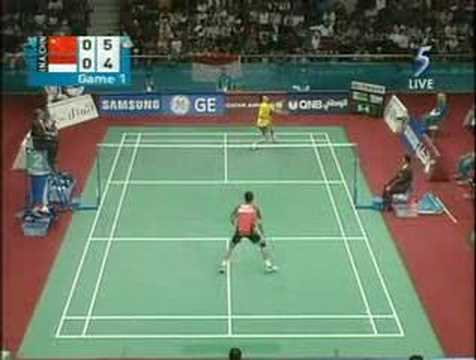 Badminton Asia Games 2006 MS Final Game 1 [1/3]