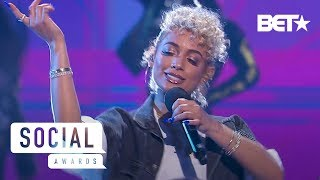 DaniLeigh Upgrades the 2019 BET Social Awards Stage with Lil Bebe Performance | Social Awards 2019